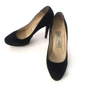 Jimmy Choo Shoes - Jimmy Choo Classic Black Velvet Pumps SZ 5.5